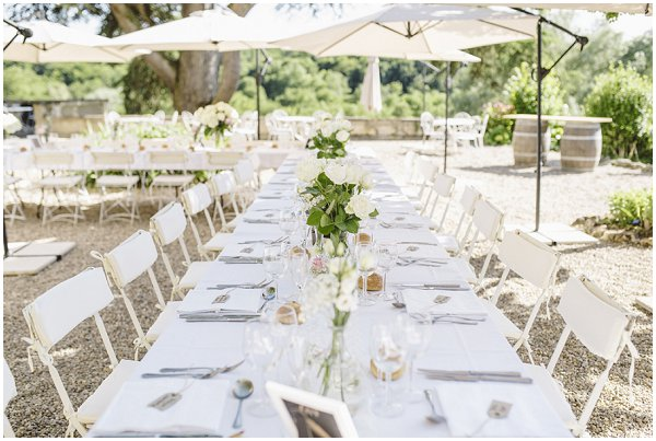 garden style wedding reception