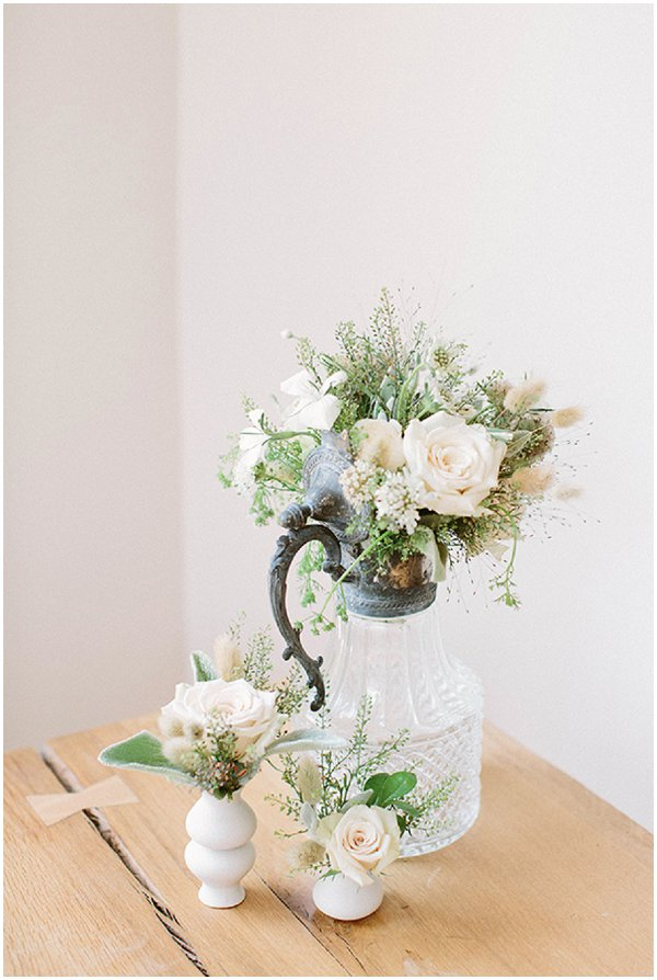 pretty wedding flower arrangement