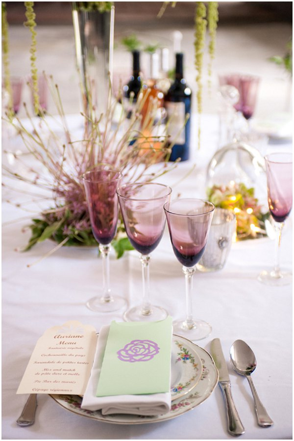 rich color wedding table ideas