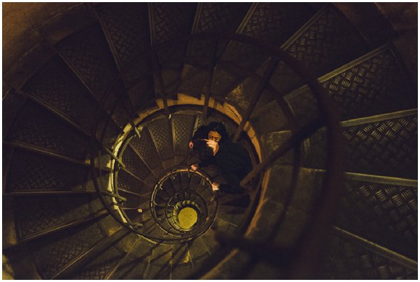 romantic spiral staircase
