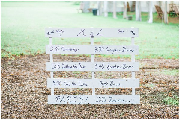 rustic wedding signage crate