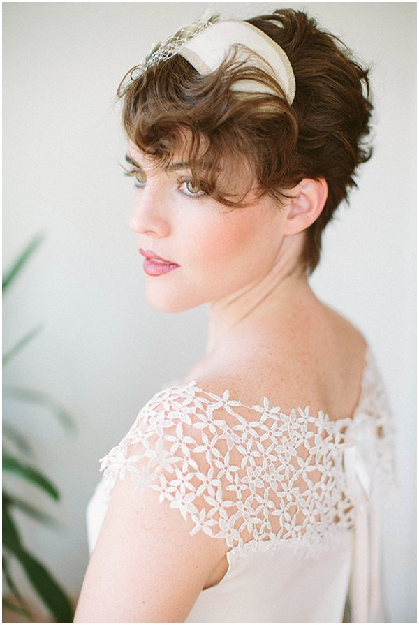 short hair hairstyles for brides