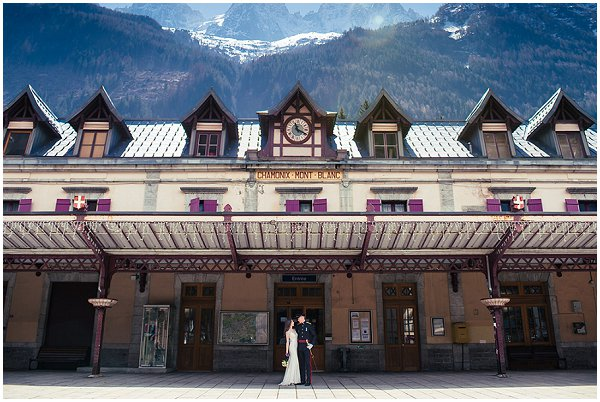 Military Destination Wedding in Chamonix France