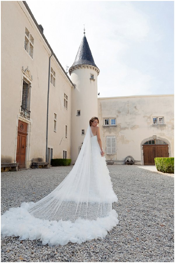 Chateau inspired wedding dress