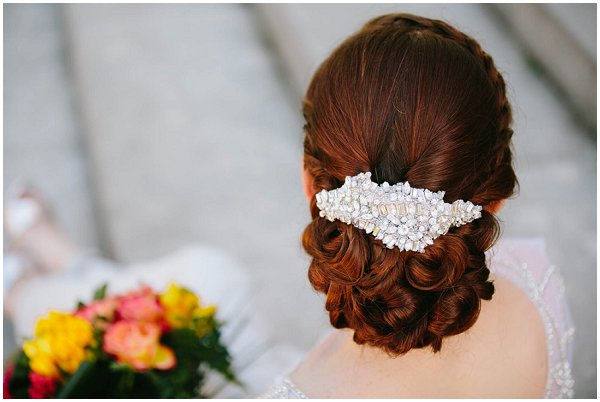Classic and chic bridal updo