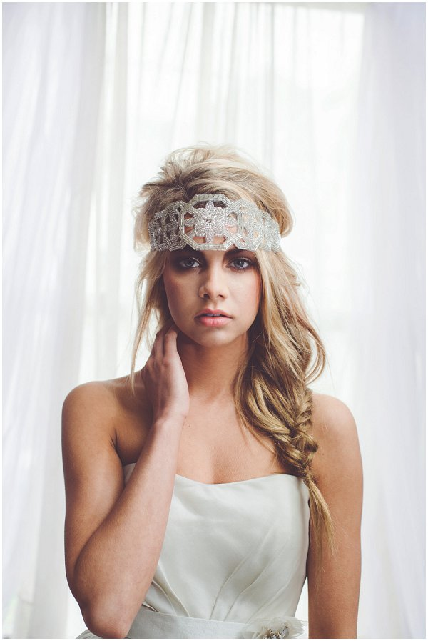 French inspired bridal headwear