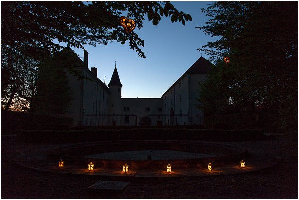 French wedding venue at night