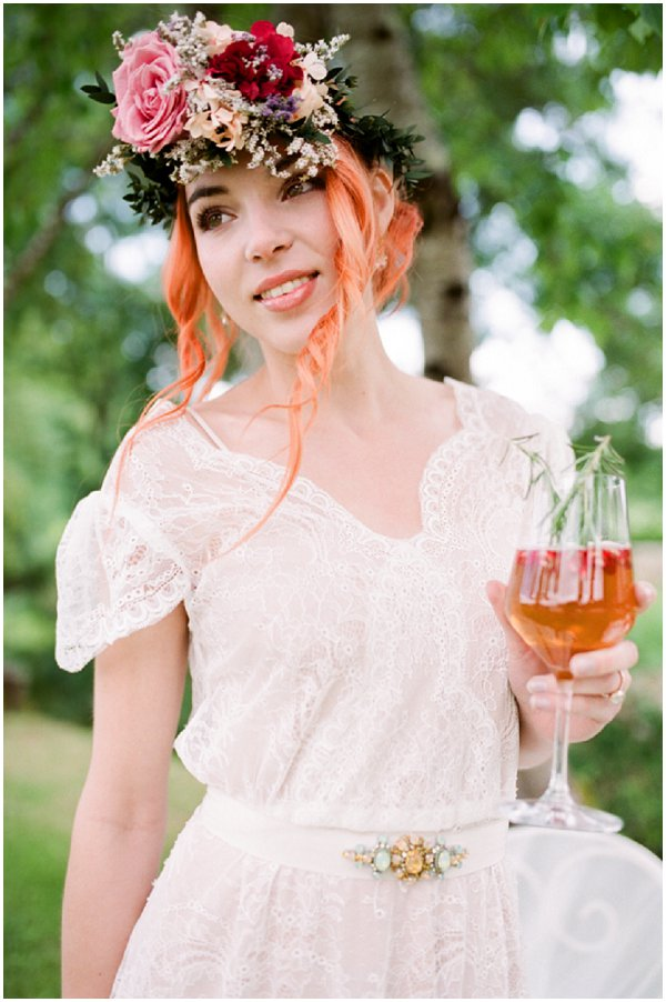 alternative country bridal style