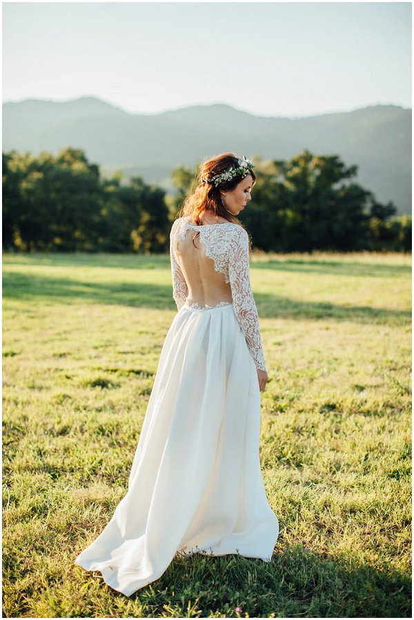 Backless Rime Arodaky wedding dress