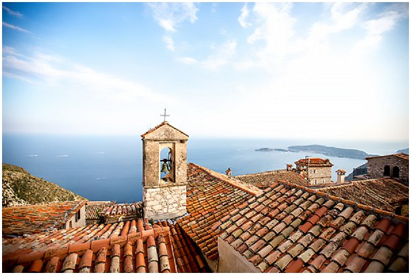 beautiful rooftops on French Riviera
