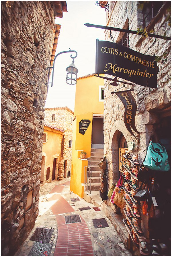 cobbled streets of Eze France