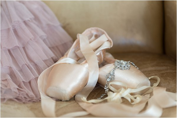 cream ballet wedding shoes