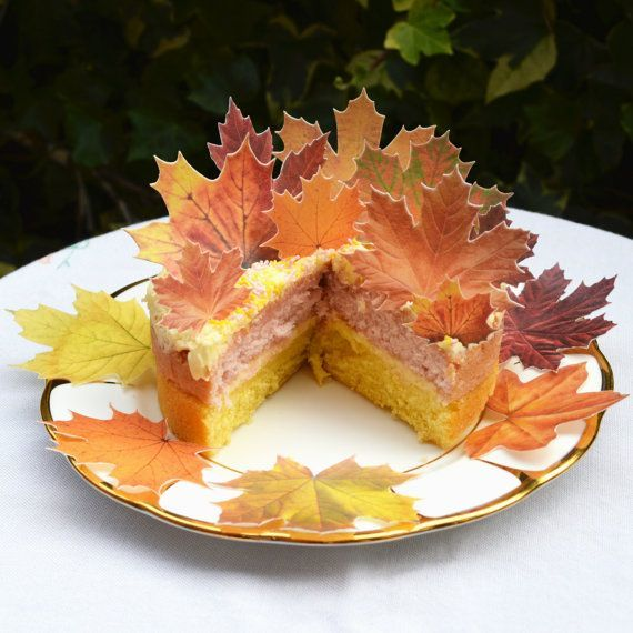edible fall leaves cakes