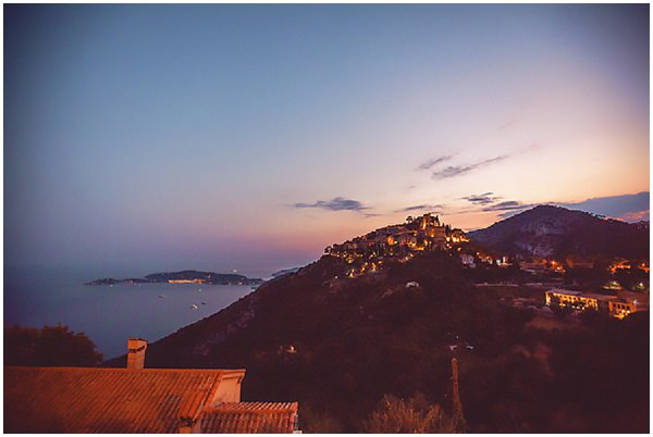 evening view of Eze village
