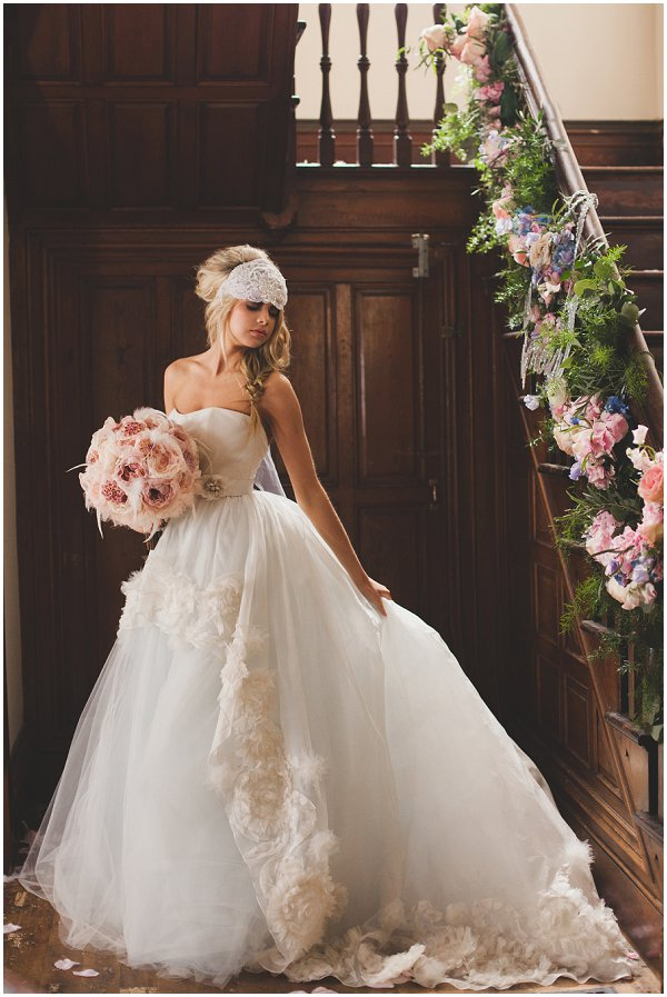 fairytale French inspired wedding dress