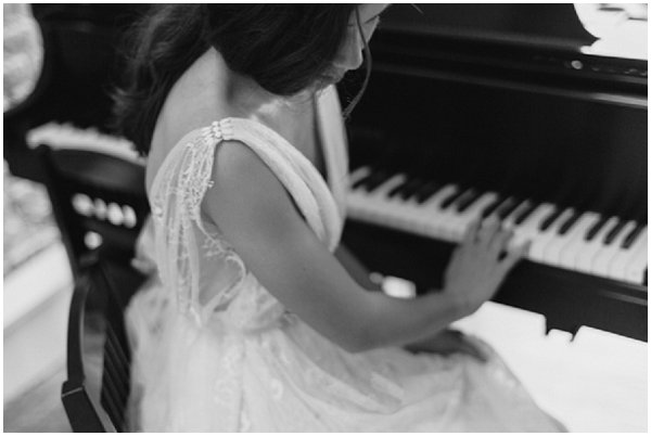 fine art bride at piano