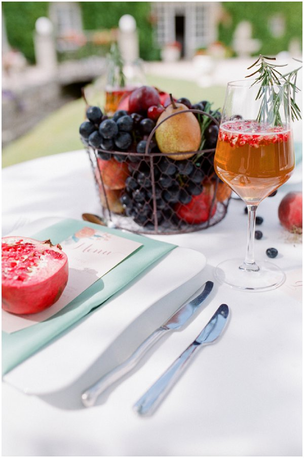 fruit inspired wedding table ideas