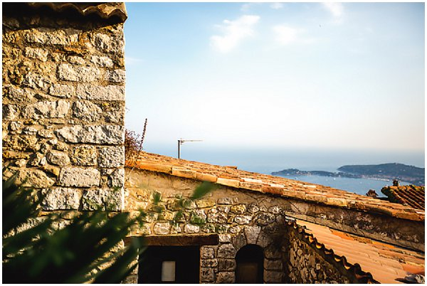 rooftop view of Eze village