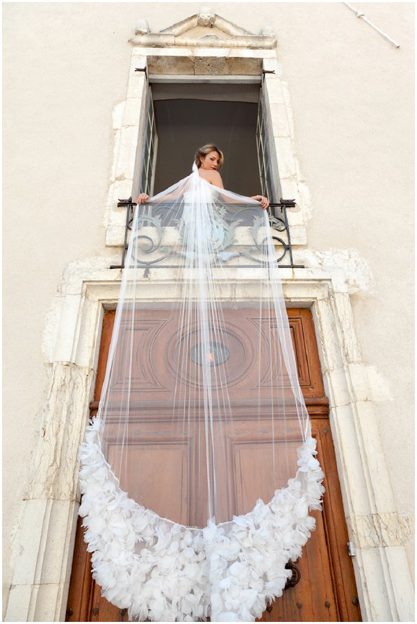 very long wedding veil