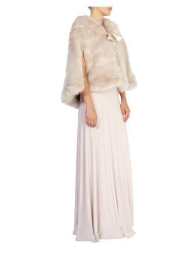 Carrie Faux Fur Tie Cape