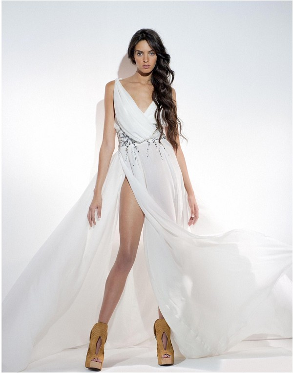 Couture and goddess inspired dress by Paolo Corona Paris