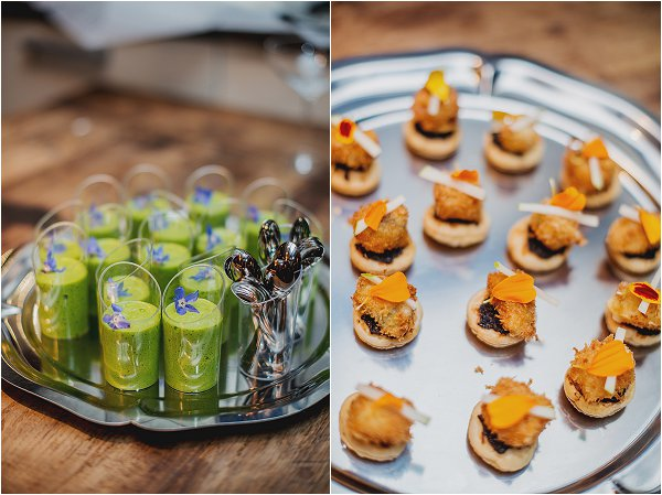 French canapes by Chef Kent