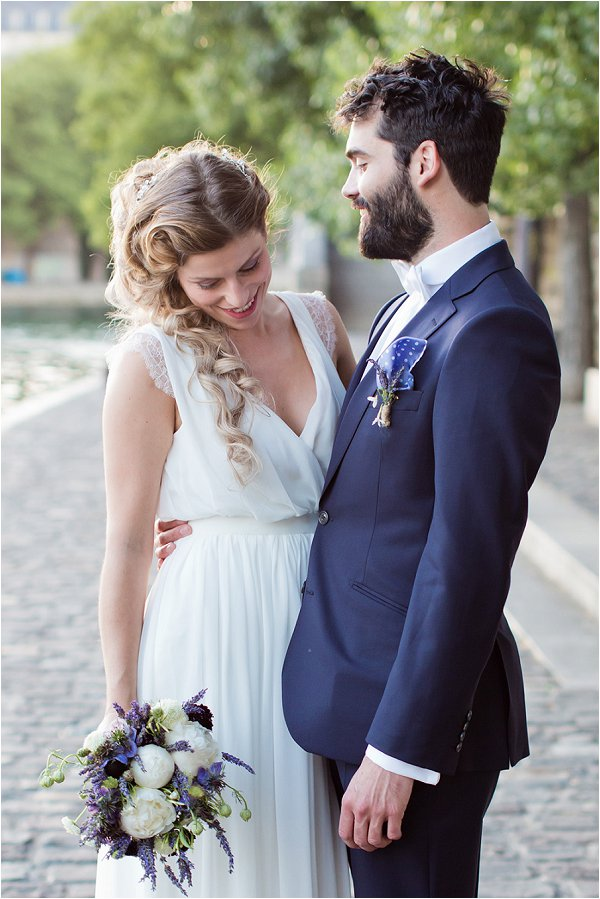 French wedding dress for Paris elopement