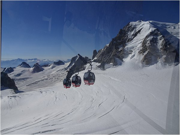 On the Mont Blanc Panoramic Cable Car