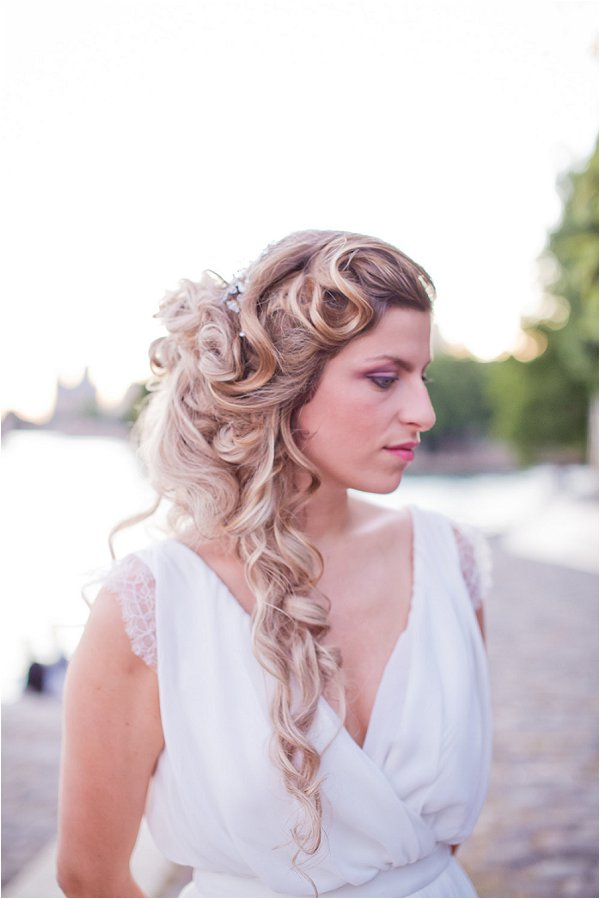 dramatic French braid bridal hair ideas