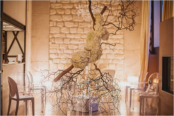 hanging floral sculpture for weddings