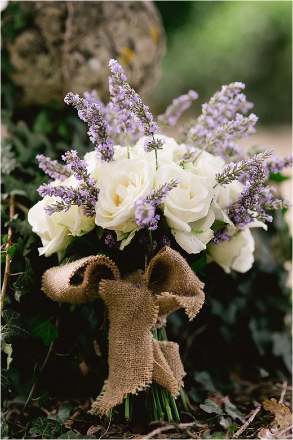lilac and white wedding bouquet