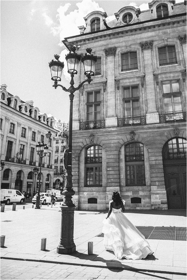 luxury bride in Paris