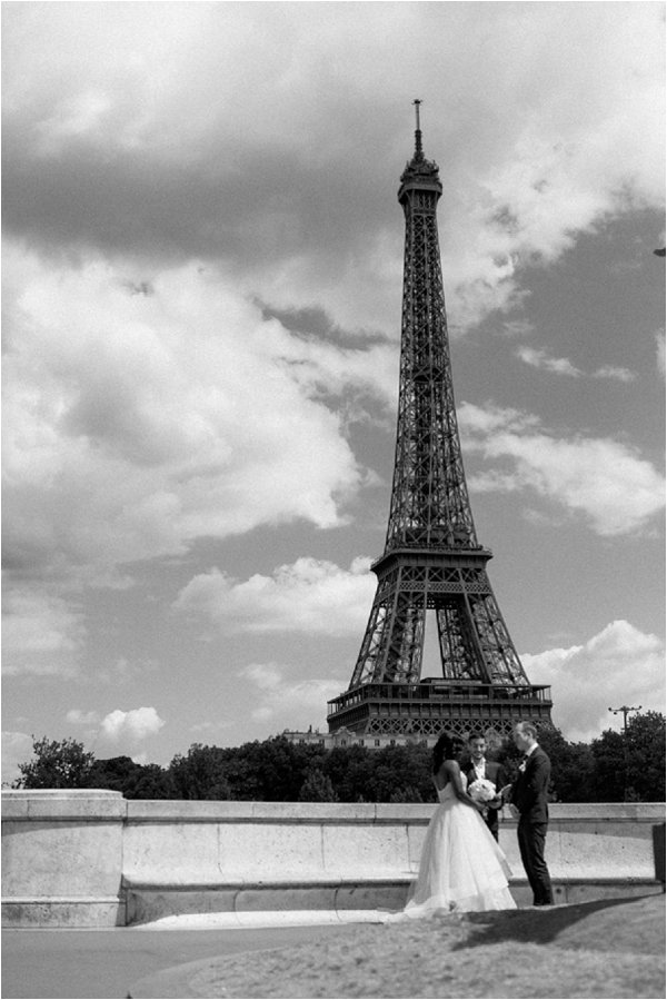 luxury elopement in Paris