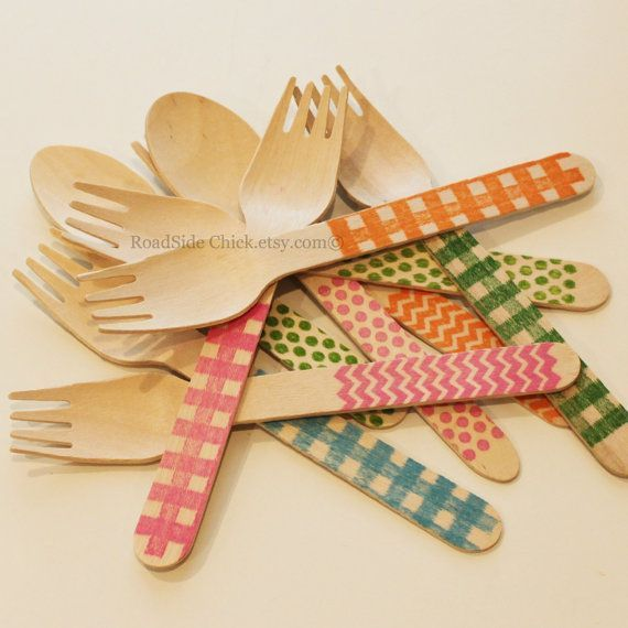 pretty disposable utensils