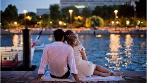 romantic evening in Paris