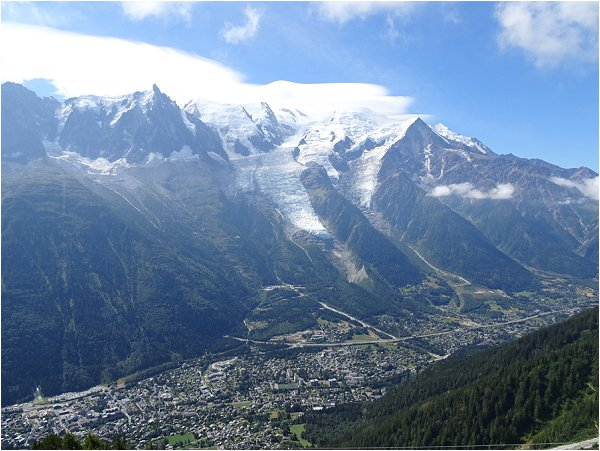 view of the Chamonix Valley from Brevent