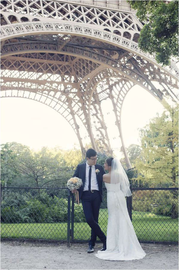wedding day Eiffel Tower Paris