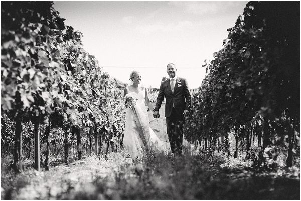 wedding in vineyard