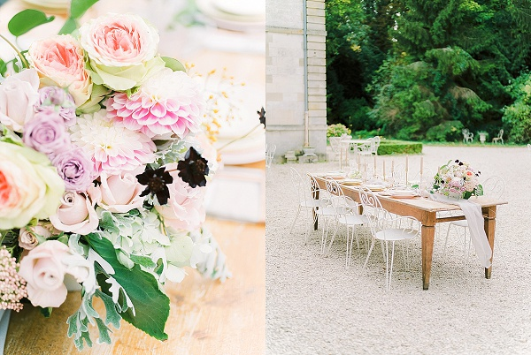 Blush and copper wedding style