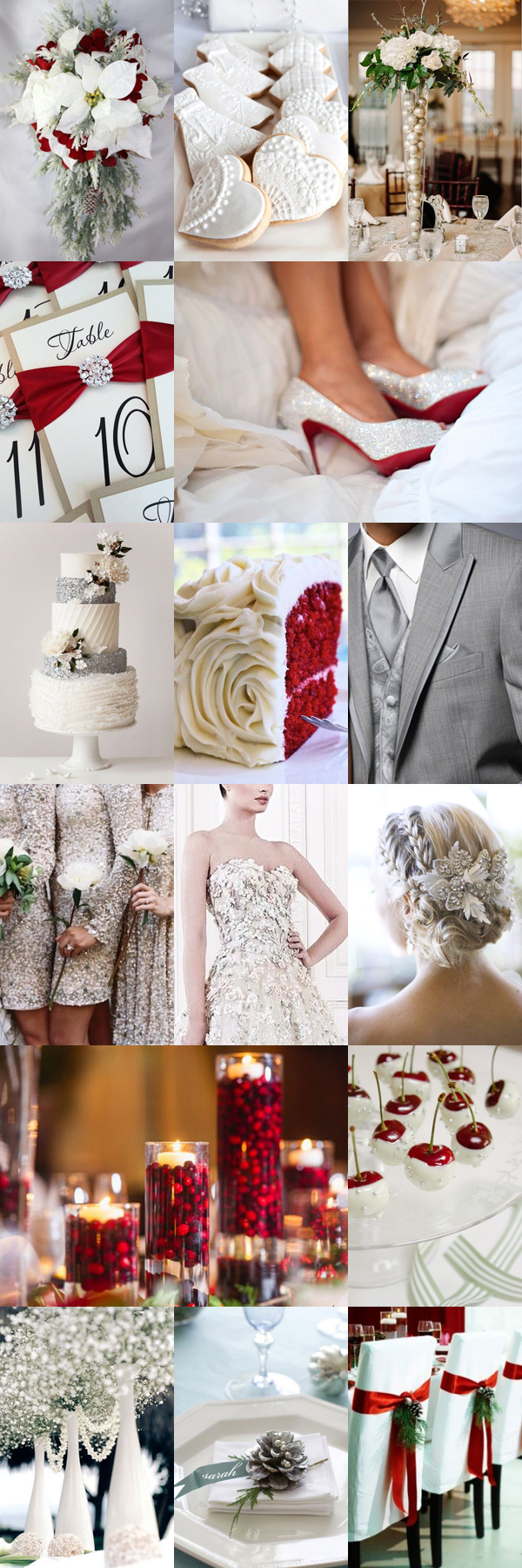 Festive Christmas Wedding Inspiration Board