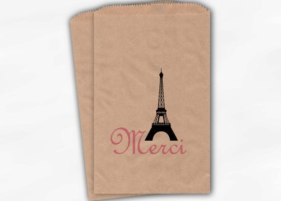 French Style Wedding Candy Buffet Bags