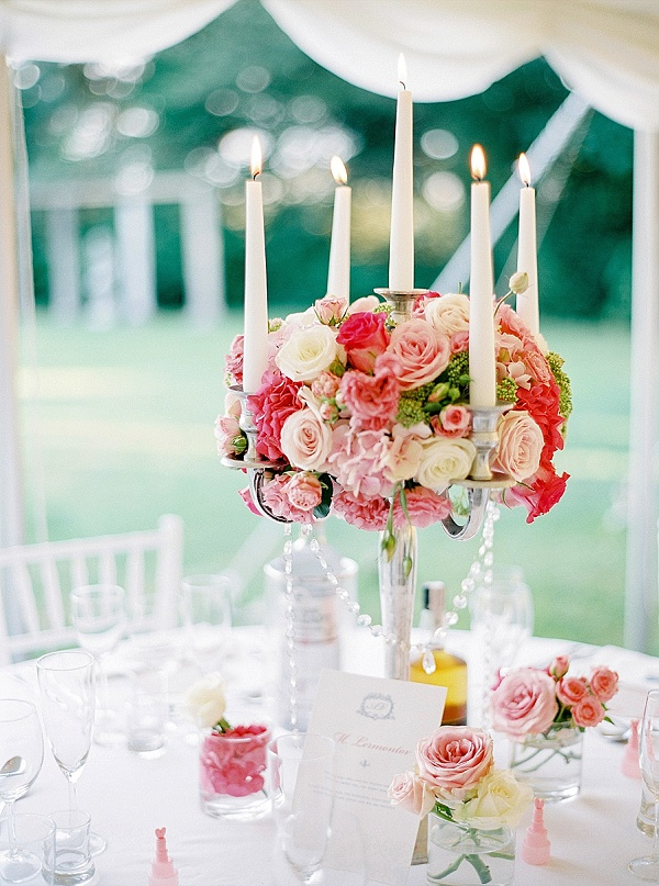 French inspired table centerpieces