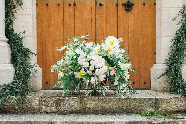 French wedding floral design