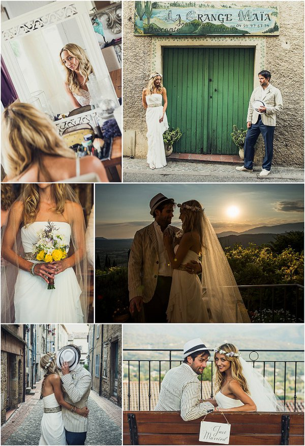 Intimate wedding in Provence snapshot