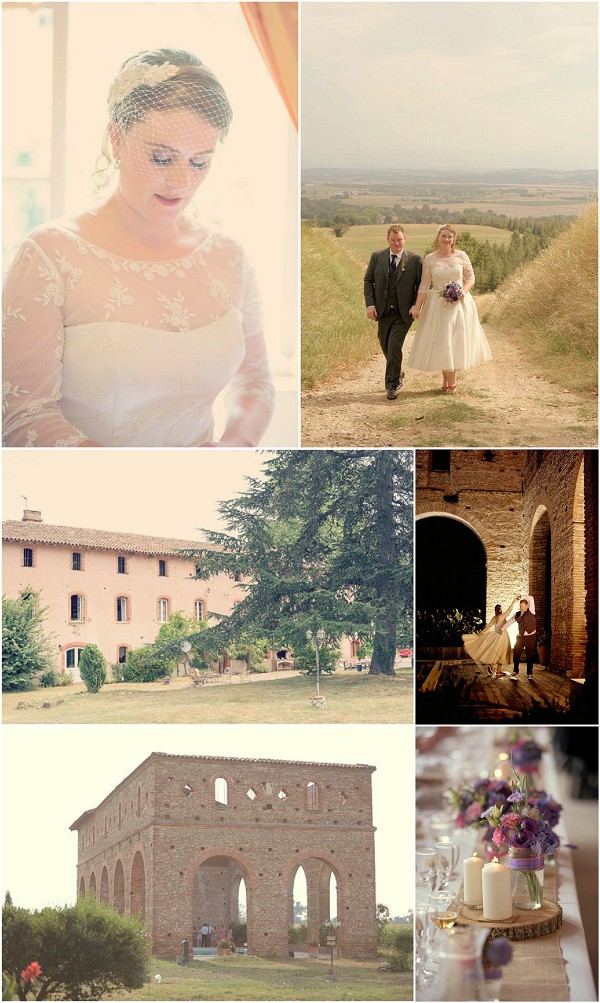 Laura & James got Married in South West of France Snapshot