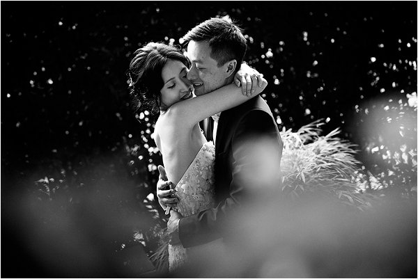 Loving embrace in luxury Paris wedding