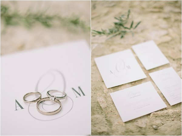 Provence wedding stationery