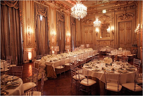The historic Shangri-La Hotel Paris, dressed for wedding breakfast
