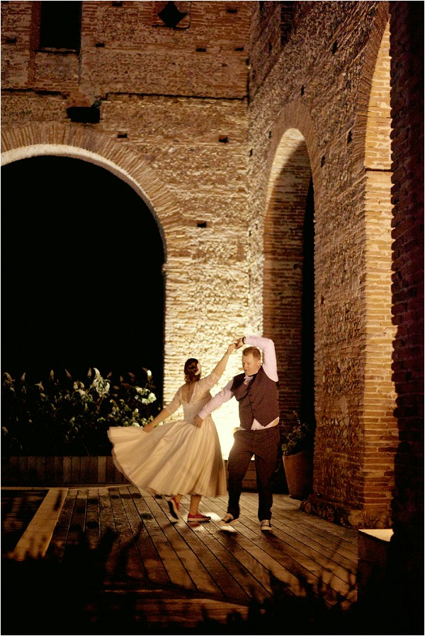 first dance in Abbey ruins in France