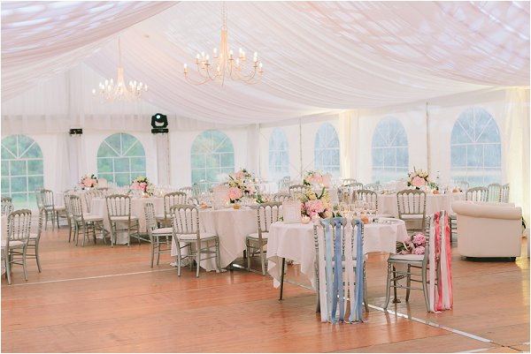 how to style a marquee wedding